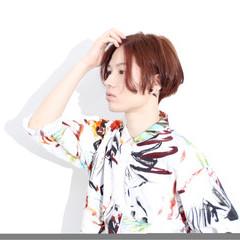 ストリート モテ髪 モード ショート ヘアスタイルや髪型の写真・画像