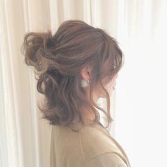 ボブ ヘアアレンジ 波ウェーブ ストリート ヘアスタイルや髪型の写真・画像