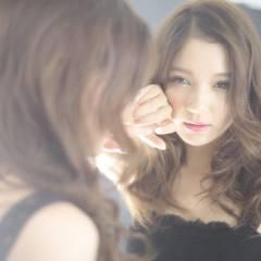 大人かわいい 外国人風 コンサバ セミロング ヘアスタイルや髪型の写真・画像