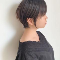 ショート ナチュラル ショートボブ 黒髪 ヘアスタイルや髪型の写真・画像