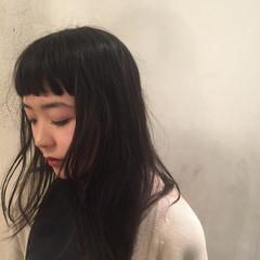 黒髪 外国人風 ストリート 前髪あり ヘアスタイルや髪型の写真・画像