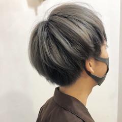ハイトーン ショート ストリート ハイトーンカラー ヘアスタイルや髪型の写真・画像
