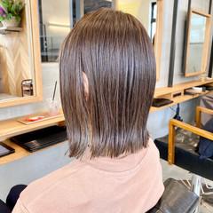 外ハネ 切りっぱなしボブ ボブ モテボブ ヘアスタイルや髪型の写真・画像