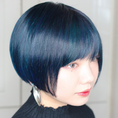 モード ユニコーンカラー ブリーチ ショート ヘアスタイルや髪型の写真・画像
