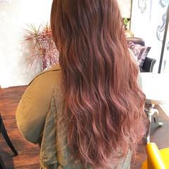 ピンク ゆるふわ ベージュ 大人かわいい ヘアスタイルや髪型の写真・画像