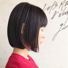 ミニボブ ワンレン ナチュラル 大人女子 ヘアスタイルや髪型の写真・画像