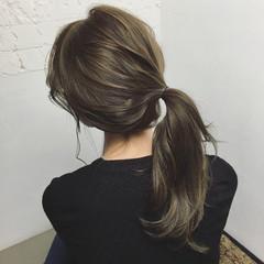 ハイライト レイヤーカット セミロング 簡単ヘアアレンジ ヘアスタイルや髪型の写真・画像