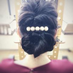 フェミニン デート 簡単ヘアアレンジ パーマ ヘアスタイルや髪型の写真・画像