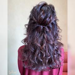 ハーフアップ パーティ ヘアアレンジ 結婚式 ヘアスタイルや髪型の写真・画像
