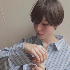 ナチュラル 簡単スタイリング ショート 小顔ショート ヘアスタイルや髪型の写真・画像
