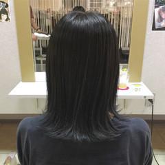 ミディアム 透明感 ストリート リラックス ヘアスタイルや髪型の写真・画像