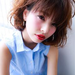 大人かわいい 前髪あり ゆるふわ フェミニン ヘアスタイルや髪型の写真・画像