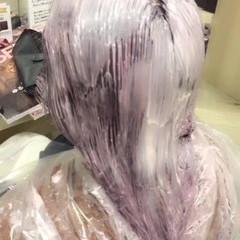 ガーリー セミロング グラデーションカラー 冬 ヘアスタイルや髪型の写真・画像