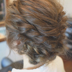 ゆるふわ ヘアアレンジ セミロング アッシュ ヘアスタイルや髪型の写真・画像