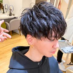 ショート メンズカット ショートマッシュ 波ウェーブ ヘアスタイルや髪型の写真・画像