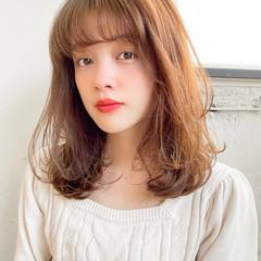 レイヤーカット デジタルパーマ ウルフカット セミロング ヘアスタイルや髪型の写真・画像
