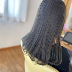透明感カラー ロング アディクシーカラー ナチュラル ヘアスタイルや髪型の写真・画像