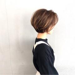 大人ショート ショートヘア 簡単スタイリング ショートボブ ヘアスタイルや髪型の写真・画像