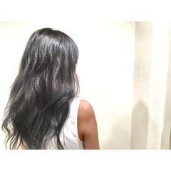 外国人風 渋谷系 セミロング グラデーションカラー ヘアスタイルや髪型の写真・画像