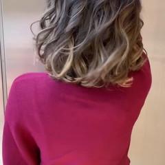 ハイライト ボブ フェミニン 外国人風カラー ヘアスタイルや髪型の写真・画像