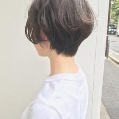 色気 オフィス ショート ナチュラル ヘアスタイルや髪型の写真・画像