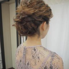簡単ヘアアレンジ 結婚式 ミディアム 結婚式ヘアアレンジ ヘアスタイルや髪型の写真・画像