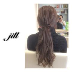 ローポニーテール ショート 簡単ヘアアレンジ ロング ヘアスタイルや髪型の写真・画像