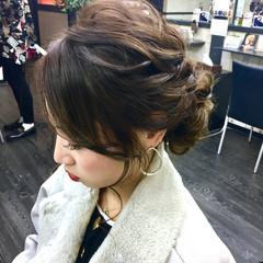 エレガント ヘアアレンジ 結婚式 上品 ヘアスタイルや髪型の写真・画像