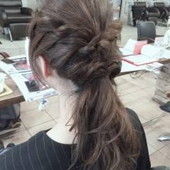 ミディアム 大人かわいい パーティ フェミニン ヘアスタイルや髪型の写真・画像