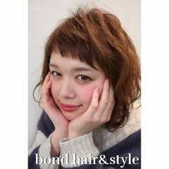 ガーリー ボブ 卵型 ゆるふわ ヘアスタイルや髪型の写真・画像
