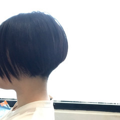 ボブ 前下がり モード 黒髪 ヘアスタイルや髪型の写真・画像