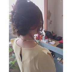 ハイライト フェミニン ゆるふわ ミディアム ヘアスタイルや髪型の写真・画像