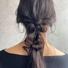 セルフアレンジ 簡単ヘアアレンジ ヘアアレンジ 編みおろしヘア ヘアスタイルや髪型の写真・画像