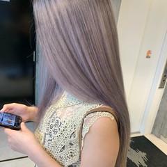 ホワイトカラー 3Dハイライト モード バレイヤージュ ヘアスタイルや髪型の写真・画像