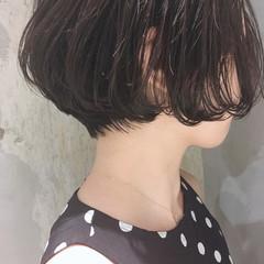 デジタルパーマ ハンサムショート アンニュイほつれヘア ショートボブ ヘアスタイルや髪型の写真・画像