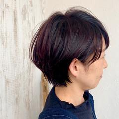 ナチュラル ショート ショートボブ ピンクベージュ ヘアスタイルや髪型の写真・画像