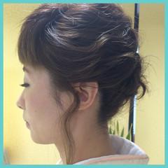 セミロング 学校 ヘアアレンジ 大人かわいい ヘアスタイルや髪型の写真・画像