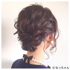 結婚式 パーティ ヘアアレンジ お呼ばれ ヘアスタイルや髪型の写真・画像