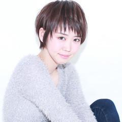 前髪あり 外国人風 ショート ストリート ヘアスタイルや髪型の写真・画像