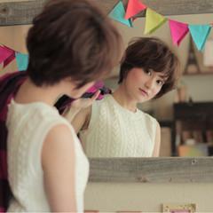 ショート コンサバ 外国人風 ピュア ヘアスタイルや髪型の写真・画像