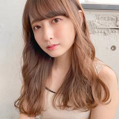 前髪 シースルバング デジタルパーマ ナチュラル ヘアスタイルや髪型の写真・画像