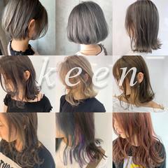 ショートヘア ミルクティーベージュ グレージュ ショートボブ ヘアスタイルや髪型の写真・画像
