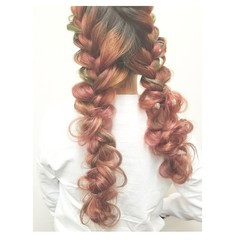 冬 ヘアアレンジ ロング デート ヘアスタイルや髪型の写真・画像
