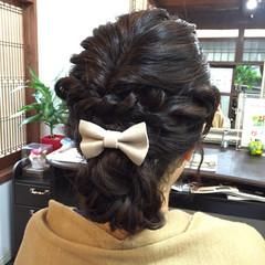 ヘアアレンジ 結婚式 大人かわいい 愛され ヘアスタイルや髪型の写真・画像