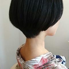 モード ナチュラル ストレート 黒髪 ヘアスタイルや髪型の写真・画像