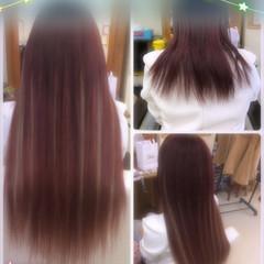 ガーリー ハイライト アッシュ セミロング ヘアスタイルや髪型の写真・画像