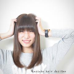 上品 フェミニン ロング 前髪あり ヘアスタイルや髪型の写真・画像
