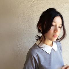 暗髪 ヘアアレンジ ショート 簡単ヘアアレンジ ヘアスタイルや髪型の写真・画像