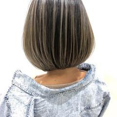 ショート バレイヤージュ 外国人風カラー ショートボブ ヘアスタイルや髪型の写真・画像