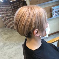 ホワイトベージュ ガーリー ショート ミルクティーベージュ ヘアスタイルや髪型の写真・画像